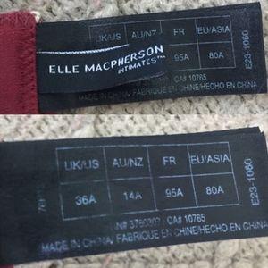 Elle Macpherson Intimates & Sleepwear - Elle Macpherson Red Lace Balconette Bra 36A